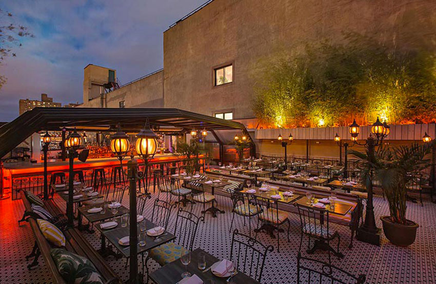terrasse de hotel chantelle a new york
